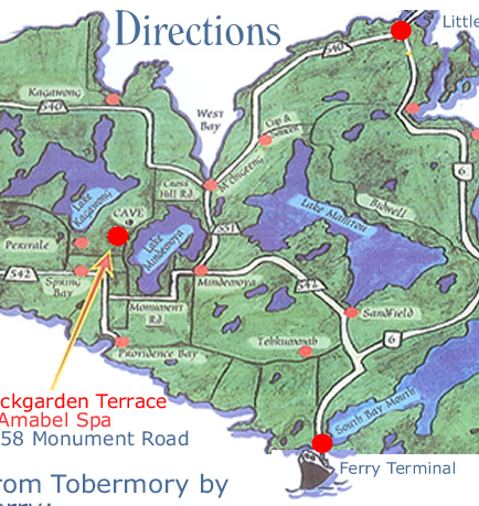 Directions to Rockgarden Terrace Resort